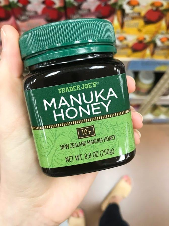 Jar of Manuka Honey from Trader Joe's.