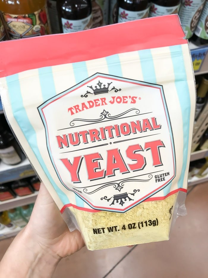 Package of Nutritional Yeast.