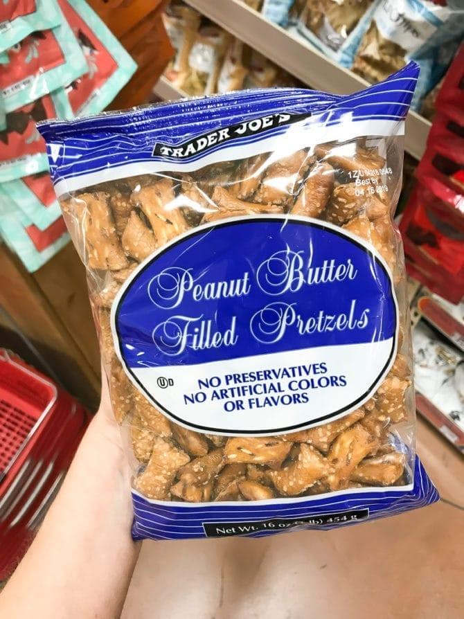 Package of Peanut Butter filled Pretzels.