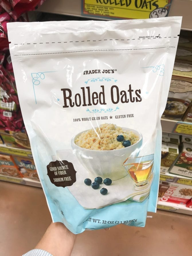 Package of Rolled Oats.