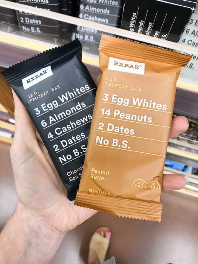 Two RxBars side by side.