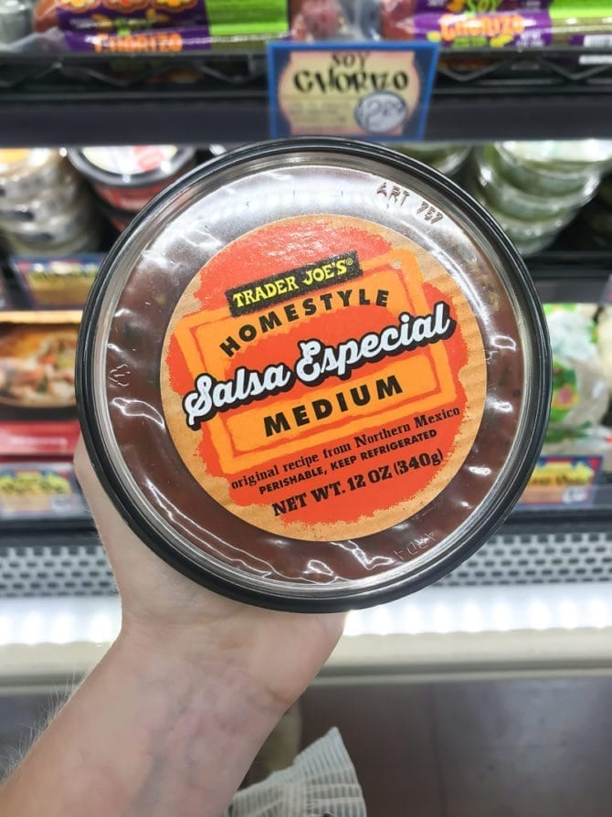 Container of Medium Homestyle Salsa Especial.