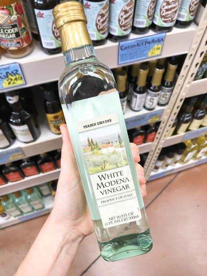 Bottle of White Modena Vinegar.