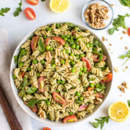 Mediterranean Diet Pesto Pasta Salad