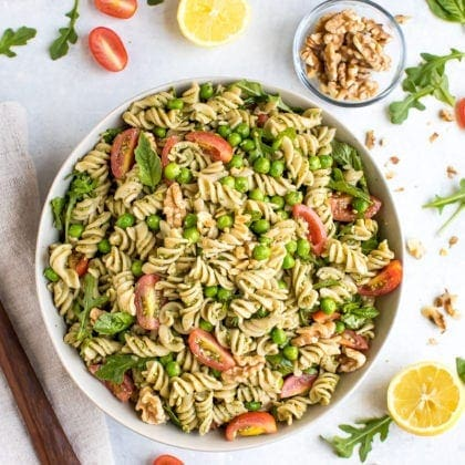 Vegan Pesto Pasta Salad