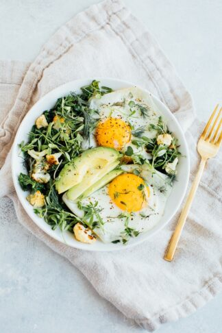 Egg and Greens Bowl aka Sautéed Breakfast Salad