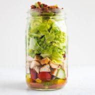 Meal Prep Salad – Chicken Avocado Club Salad