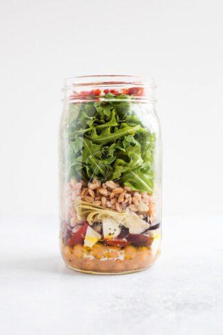 Meal Prep Salad - Mediterranean Farro Salad