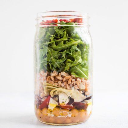 Meal Prep Salad – Mediterranean Farro Salad