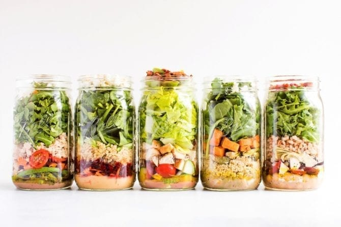 Any Salad Can Be Prepped In A Mason Jar Have Fun With Creating Your Own But Use This Guide To Make Sure You Keep Nice And Fresh