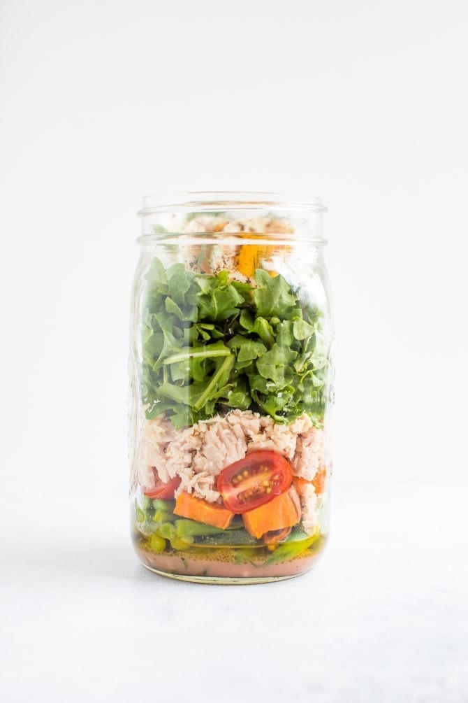 Nicoise Mason Jar Salad