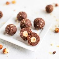 Hazelnut chocolate balls