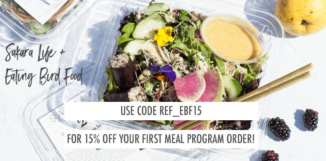 Sakara Life Promo Code: REF_EBF15 for 15% off your first meal program order
