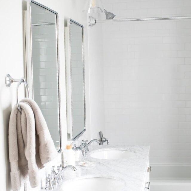 Master Bathroom Renovation - White, Bright Small Bathroom