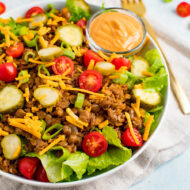 """Cheeseburger"" Salad with Special Sauce"