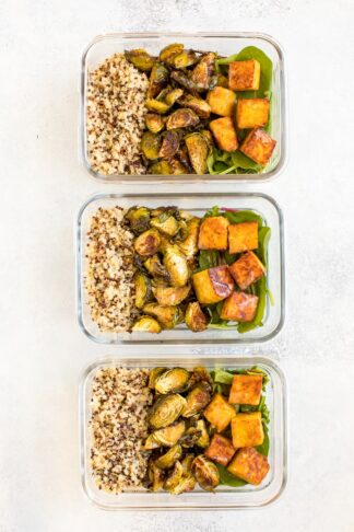 Maple Mustard Tempeh Meal Prep Bowls