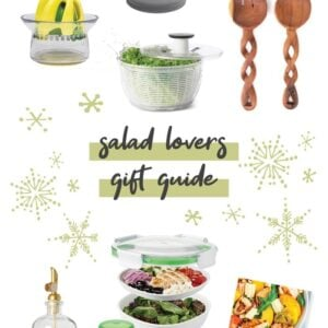 Collage gift guide for salad making gifts.