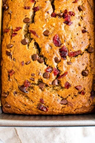 Cranberry Banana Bread with Chocolate Chips