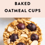 Blueberry almond baked oatmeal cup.