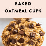Chocolate chip baked oatmeal cup.