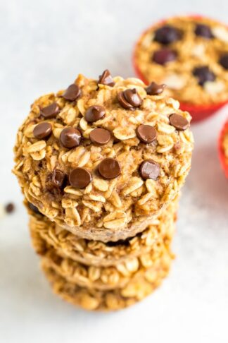 Baked Oatmeal Cups 4-Ways
