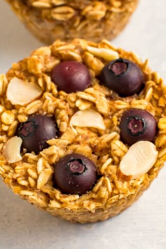 Blueberry Baked Oatmeal Cups
