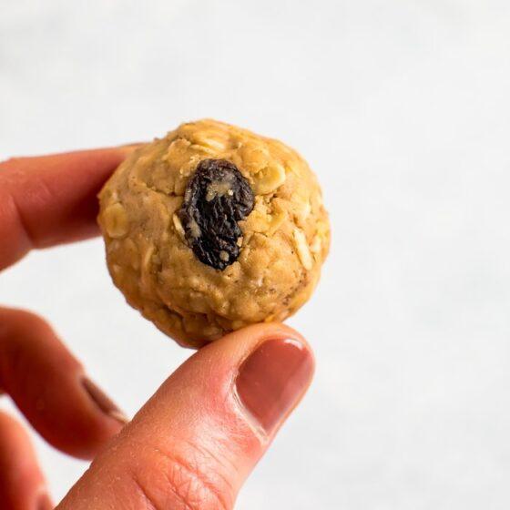 Cinnamon Raisin Cookie Protein Balls