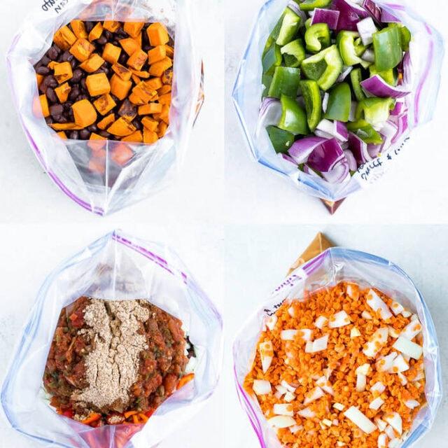 4 Healthy Vegetarian Slow Cooker Freezer Meals