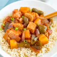 Slow Cooker Vegan Sweet and Sour Tempeh