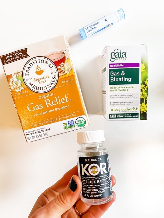 Tea, gas and bloating and supplements to help with travel bloat.