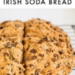 Irish soda bread made with whole wheat flour and raisins.