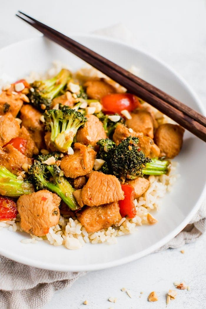 Easy Healthy Kung Pao Chicken