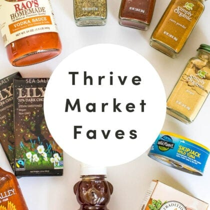 Favorite healthy food from Thrive Market.