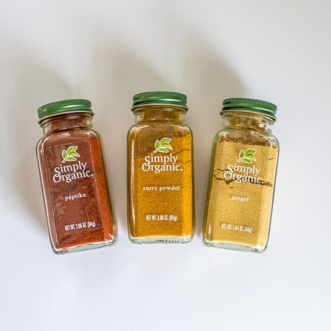 Simply Organic spices.
