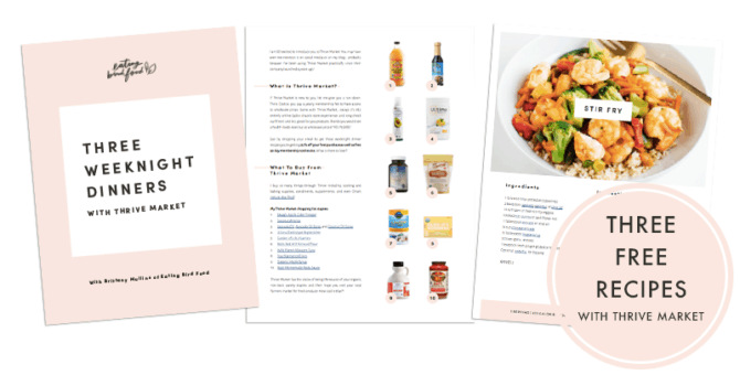 Weeknight dinners ebook spreads. Recipes, shopping list and cover.