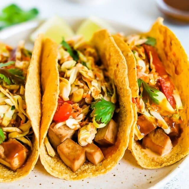 Asian Tofu Tacos