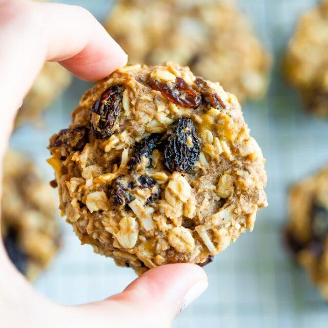 Oatmeal Raisin Protein Cookies