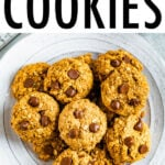 Plate of chocolate chip lactation cookies.