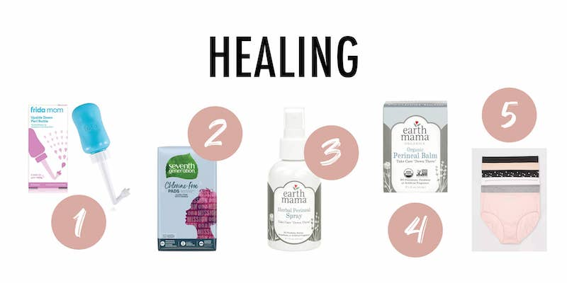 Five healing products to use postpartum.
