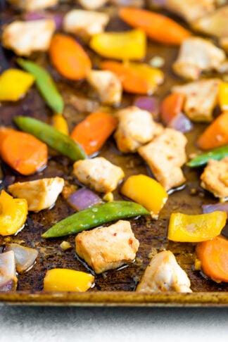 Asian Chicken Sheet Pan Meal