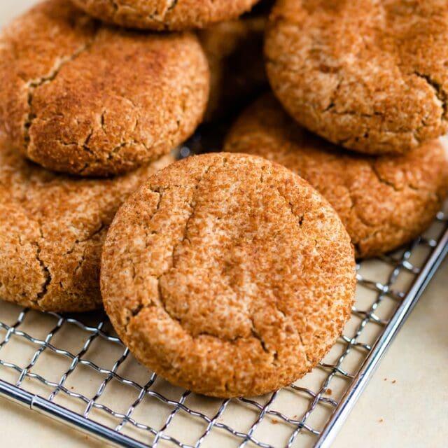 Gluten-Free Snickerdoodles with Almond Flour