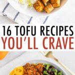 Peanut tofu rice and kale bowl, and a bowl of tofu sofritas with rice, beans, and veggies.
