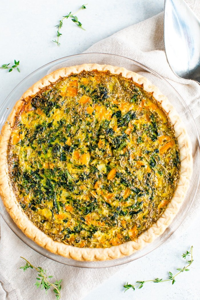 Dairy Free Spinach Quiche Eating Bird Food