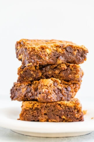 5-Ingredient Vegan Graham Cracker Blondies