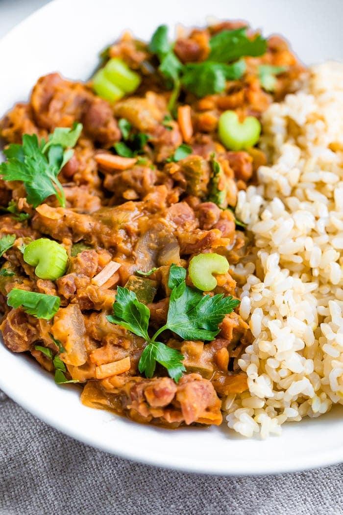 Vegan Red Beans And Rice Eating Bird Food