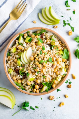Easy Barley Salad with Chickpeas and Pears