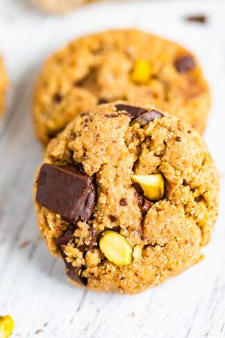 Dark Chocolate, Pistachio and Cardamom Cookies