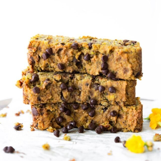 Vegan Zucchini Bread with Almond Flour (Oil-Free)
