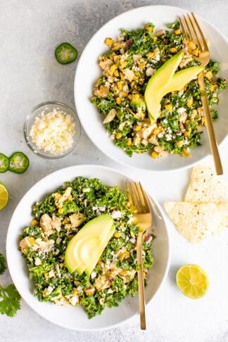Mexican Street Corn Kale Salad