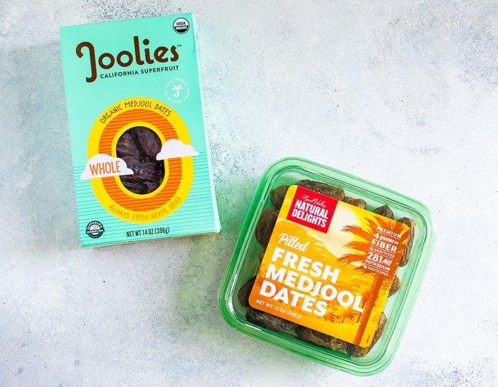Two packages of medjool dates - Joolies and Natural Delights
